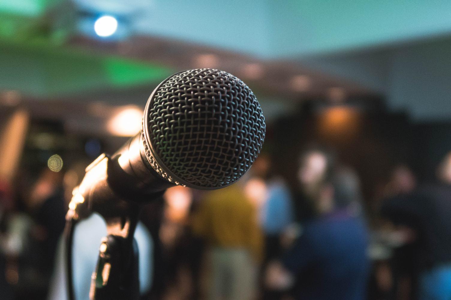 Close Up Shot of a Microphone