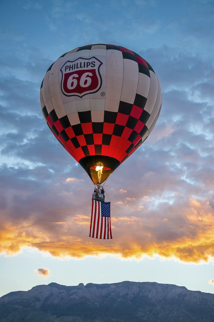 Free Photo Hot Air Balloon With American Flag
