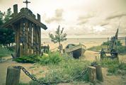Small Wodden Chapel on a Beach