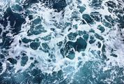 Ocean Water Abstract Background Top View