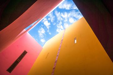 Abstract Architectural Composition of the Blue Sky
