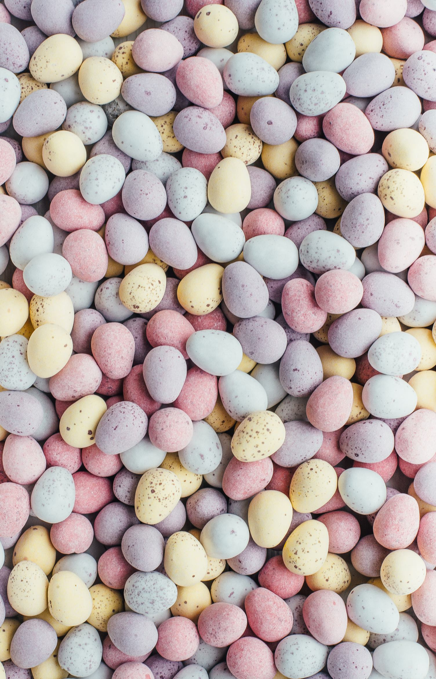 Easter Texture - Quail Eggs in Pastel Colors