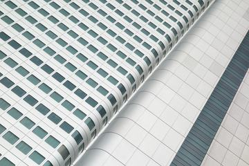 White Modern Building Cladding Structure