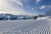 Perfectly Groomed Fresh Ski Piste
