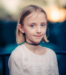 Portrait of Smiling Teen Blond Girl