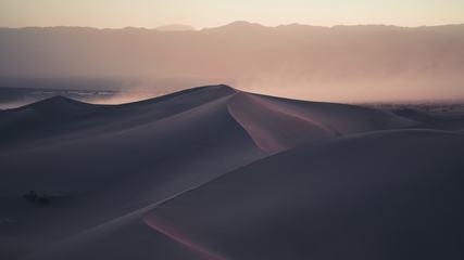 Sand Storm on Dunes