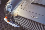 Close-up View of a Classic Aston Martin Vintage Car