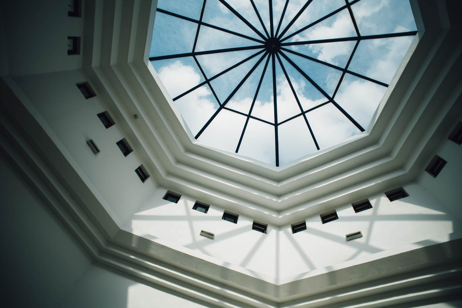 Dome with Skylight Building Interior