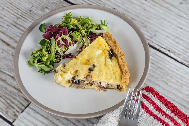 Plate with a Piece of Tart and Lettuce