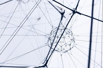 Suspended Geometric Figure Art Installation