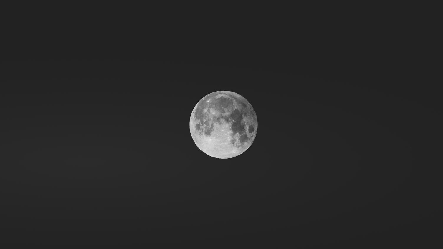 Clear Night Sky with Bright Full Moon