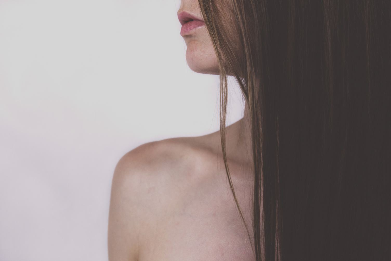 Bare Shoulder Long Haired Woman