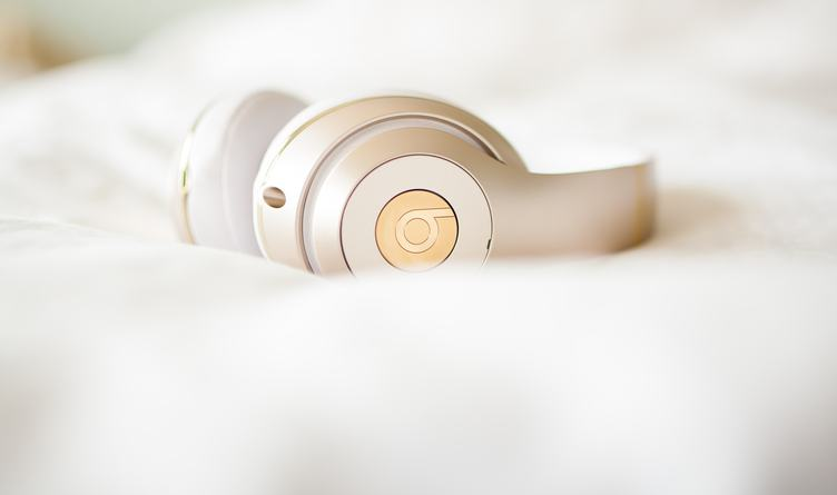 Beats Headphones on a Soft Blurry white Background