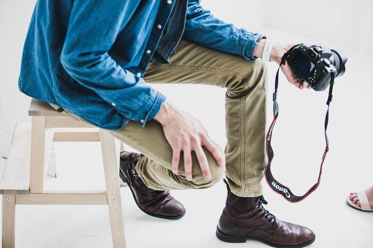 Photographer Sitting in Studio