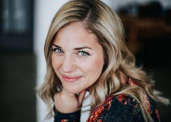Portrait of a Blonde Woman Smiling