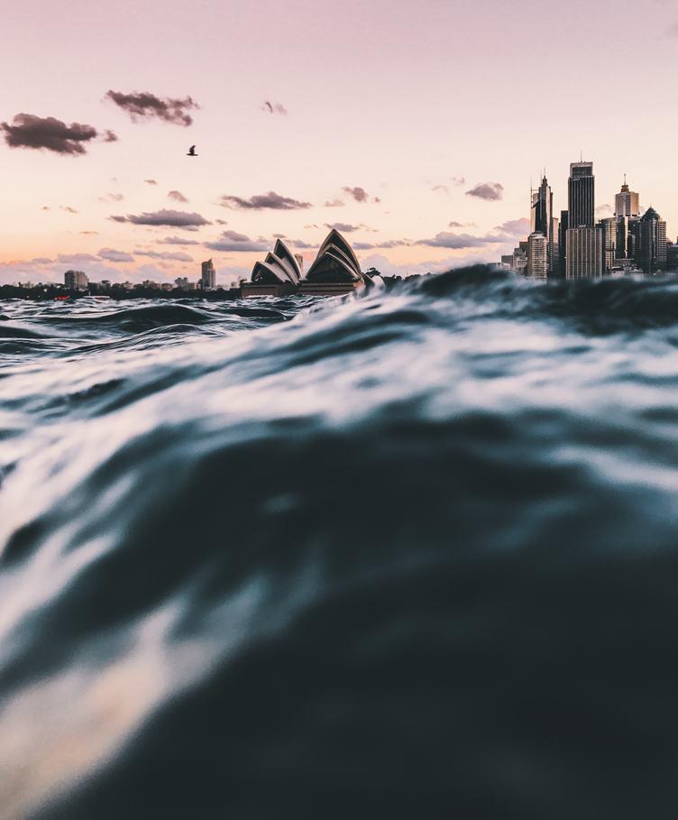 Rough Sea in the Sydney Harbour, Australia