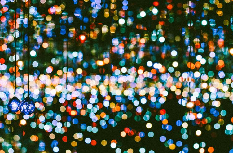 Colorful Blurred Bokeh Background