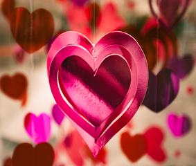 Pink Hearts Decoration