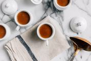 Cups of Coffee or Chocolate on Marble Table