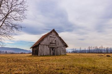 Old Barn on the Empty Field