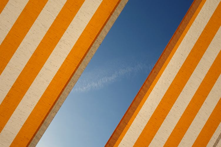 Abstract Background Fabric against Blue Sky