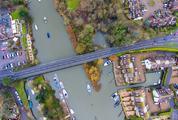 River Town Landscape Aerial View