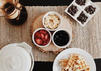 Belgium Waffles Supplements - Fruits and Chocolate Drops
