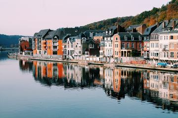 Buildings Reflecting in the Meuse River Dinant, Belgium