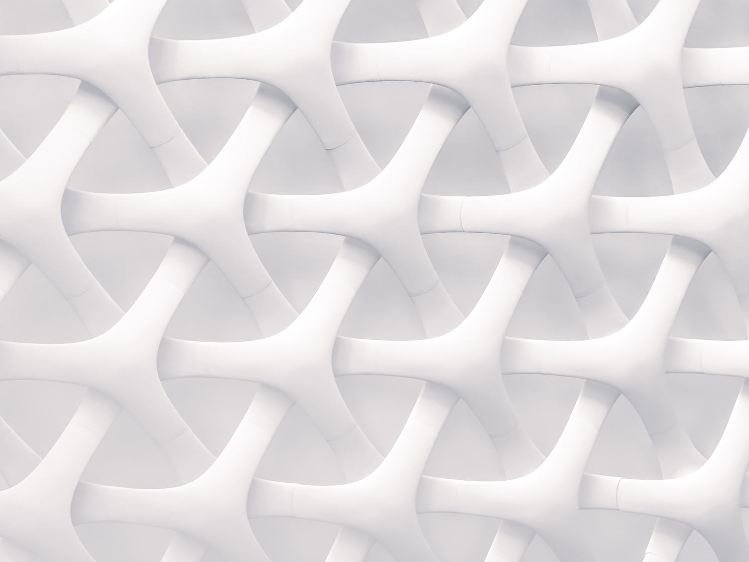 White Abstract Overlapping Pattern