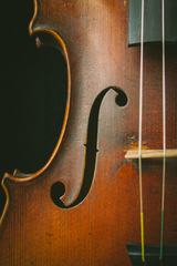 Old and Dirty Violin Closeup