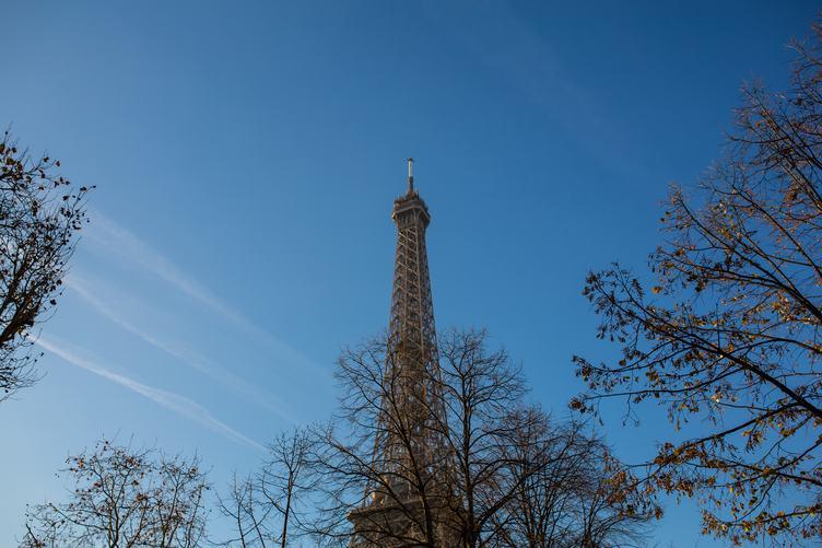 Eiffel Tower in Autumn Paris, France