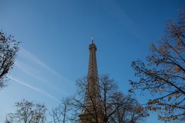 Eiffel Tower in Autumn Paris, France