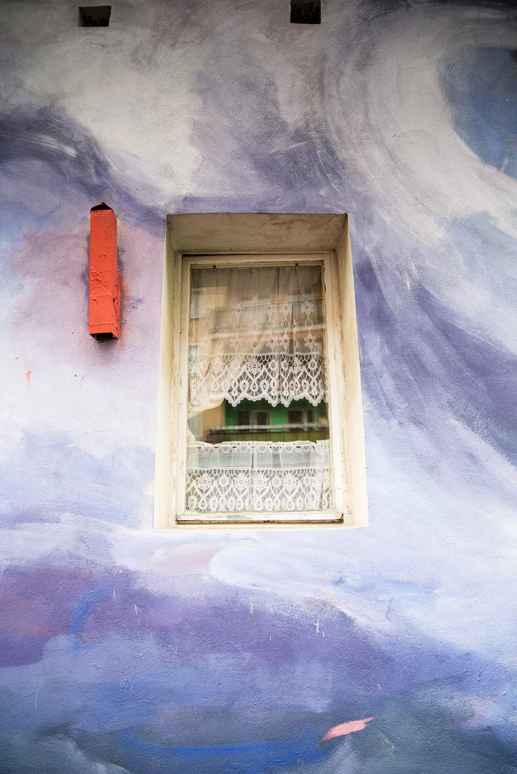 Small Window in a Painted Wall