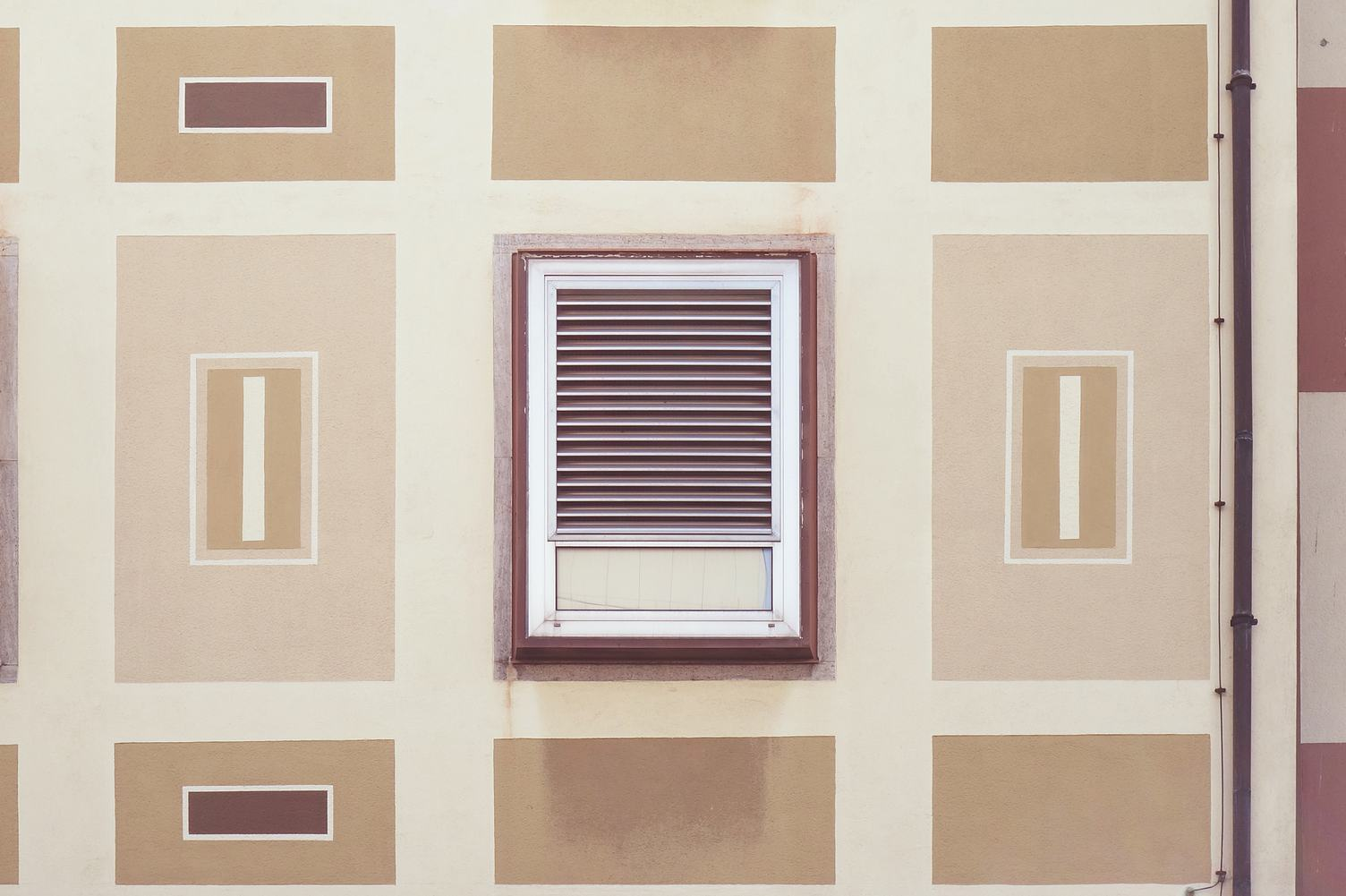 Pastel Rectangles and Window - Building Facade