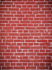 Vertical Background of Red Brick Wall Texture