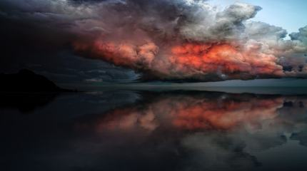 Dramatic Fiery Clouds