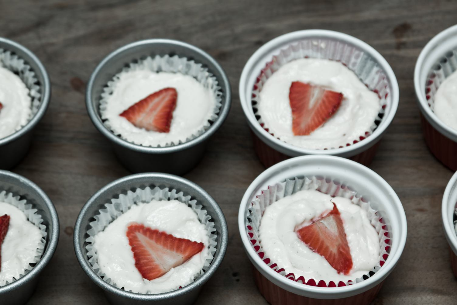Preparing Sweet Strawberry Cupcakes