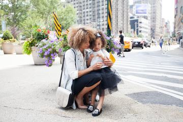 Mother and Daughter on the NY Street