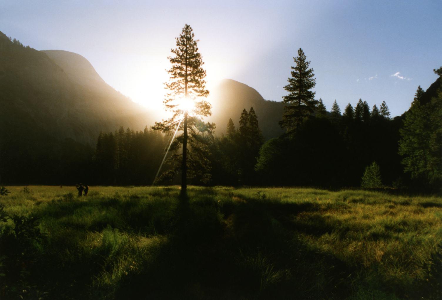 Against the Sun Mountain Landscape
