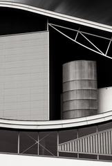 Closeup of Modern Industrial Building - Abstract Composition