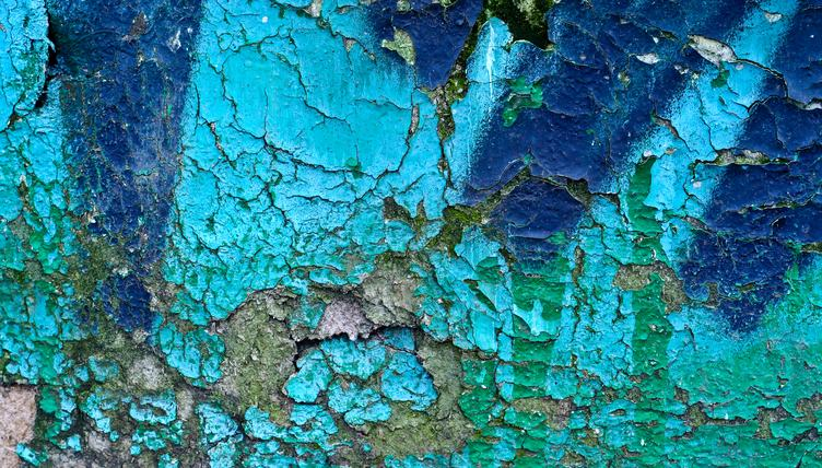 Blue Grunge Painted Wall Texture