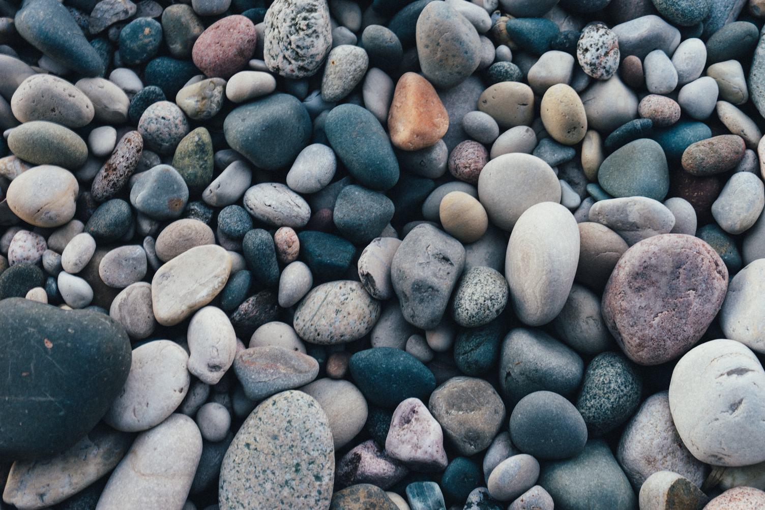 Closeup of Colorful Pebbles