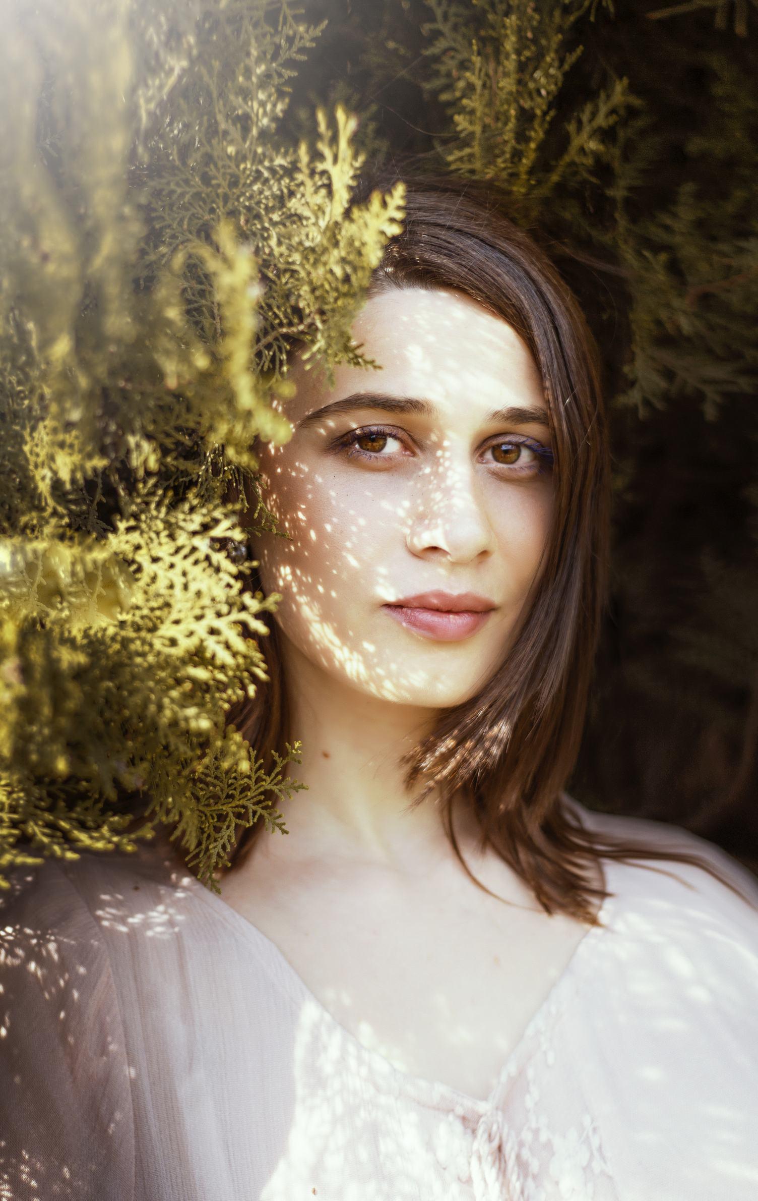 Close Up Portrait of a Beautiful Brunette Woman