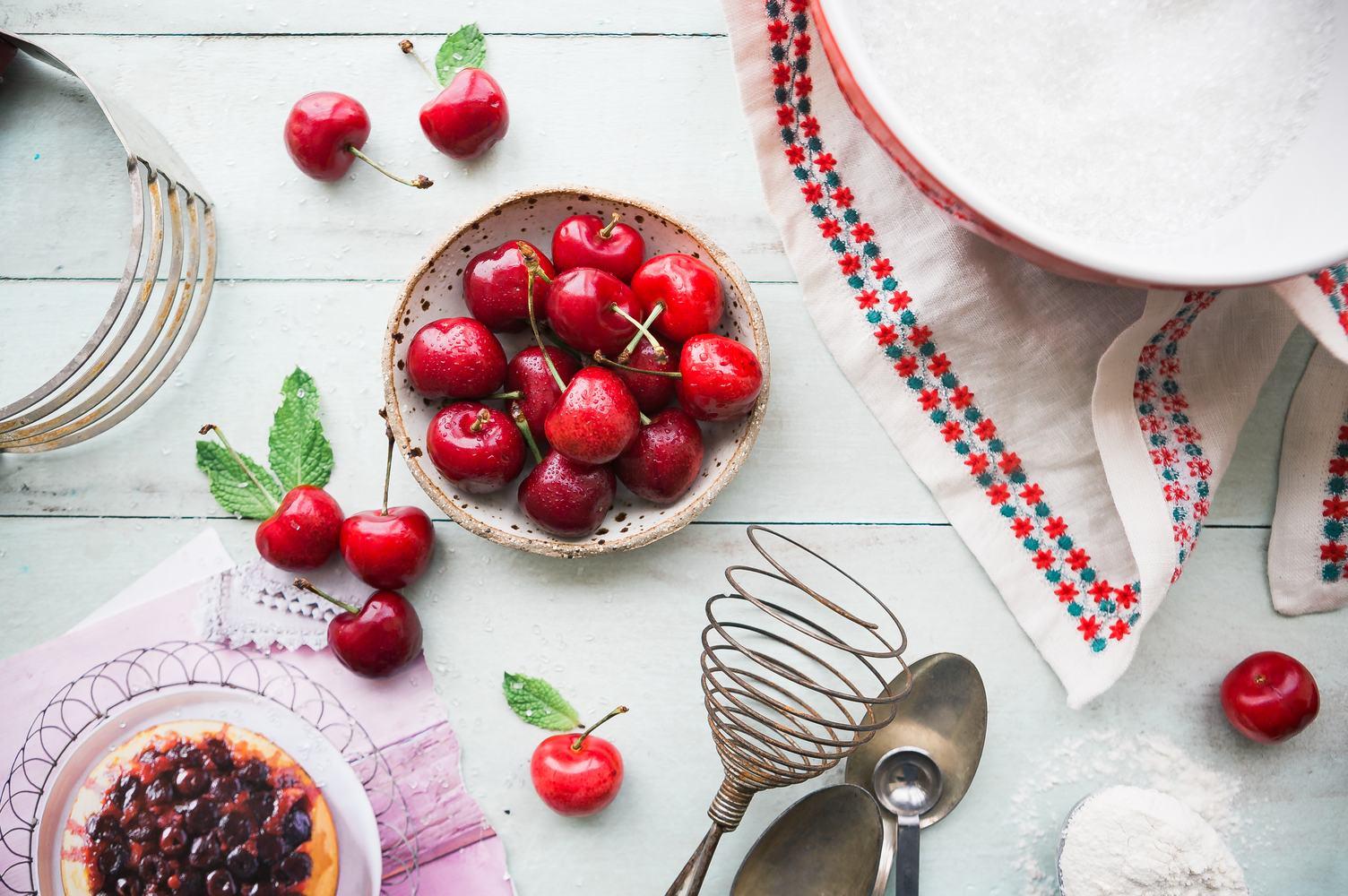 Preparing to Bake Cherry Pie