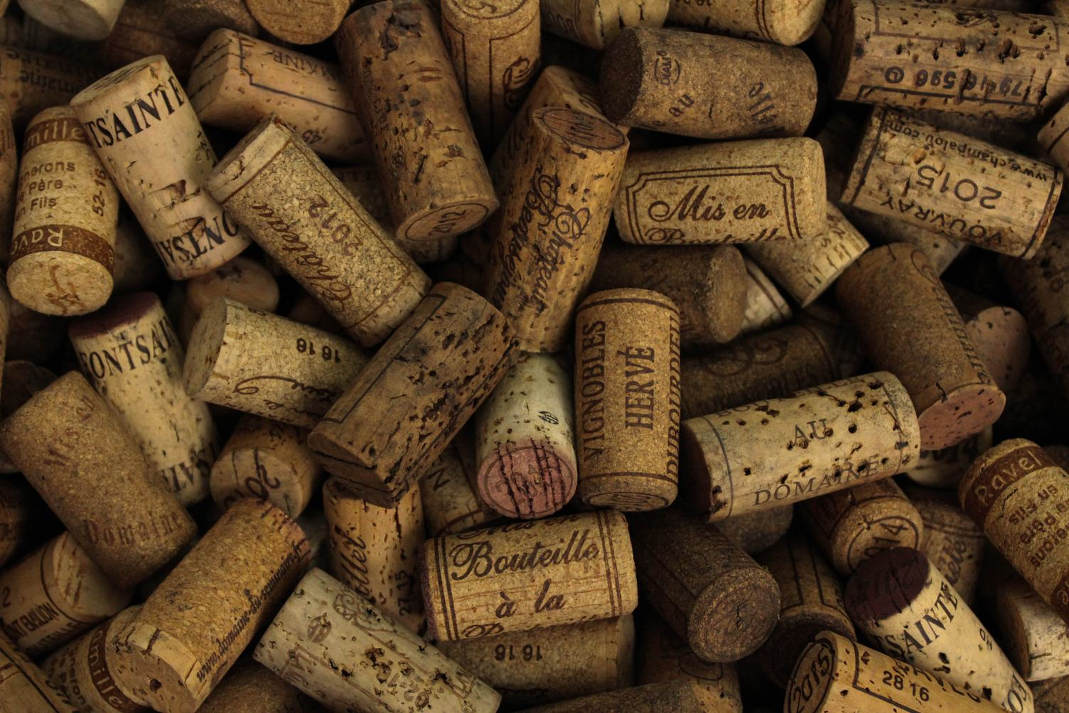 Various Used Wine Corks