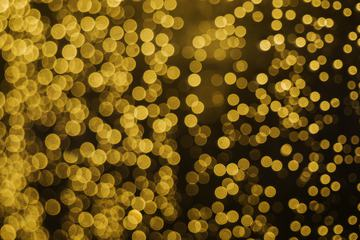 Gold Sparkles Abstract Bokeh Background