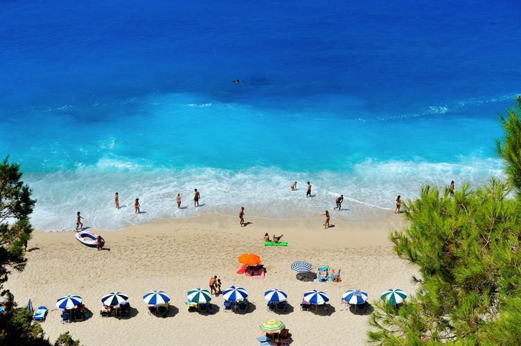 Summer Vacation on the Coast, Umbrellas on the Beach