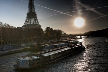 Paris Waterfront at Sunset