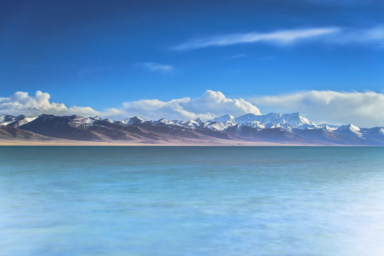 Panoramic View of the  Sea and Mountain Range