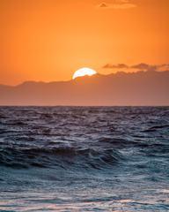 Beautiful Orange Sunset Above the Sea